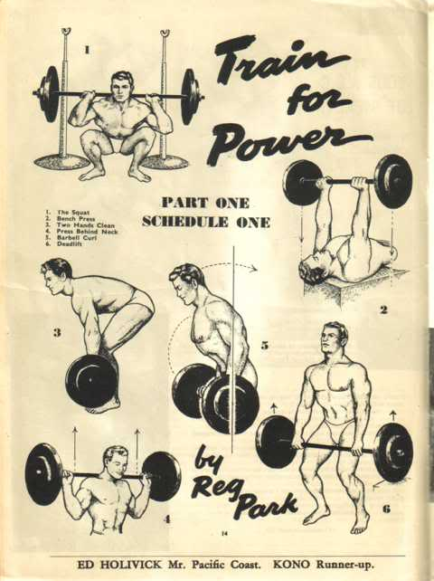 Old School Weight Training Manual